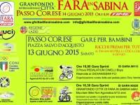 """Il 14 giugno 2015 a Passo Corese la 10^ GF """"Città di Fara in Sabina – Time"""""""