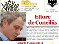 Piana degli Albanesi, venerdì la cittadinanza onoraria all'artista Ettore de Conciliis