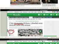 La colossale bufala del circo mediatico italiano sulla caduta di Kobane