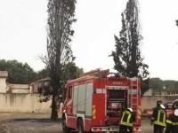Temporale in Sabina: fulmine colpisce i cipressi a Borgonuovo di Tarano. Gli alberi davanti al cimitero