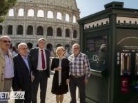 Colosseo, fontana d'acqua pubblica installata dall'azienda sabina Lorenzoni