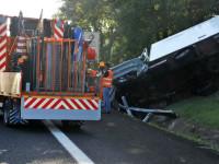 Un furgone si schianta contro un mezzo dell'Anas a Magliano Sabina
