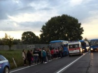 Incidente sulla Salaria, si tamponano due bus del Cotral