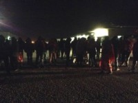 Solidarietà dei facchini Cedof di Fiano Romano al blocco Carrefour di Roma