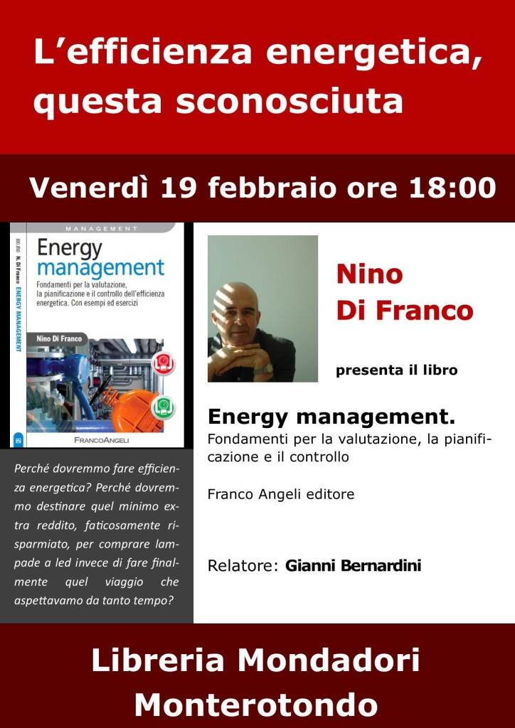 """Venerdì 19 febbraio a Monterotondo presentazione di""""Energy management"""""""