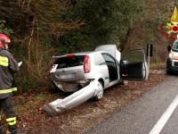 Altro incidente sulla Salaria al km 60: ferito giovane
