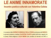 Le anime innamorate. Sabato 19 Marzo 2016 a Sant'Oreste (RM) giornata mondiale della poesia
