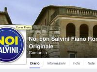 """Post Facebook di """"Noi con Salvini Fiano Romano Originale"""" sul comunicato del Comune di Fiano Romano"""