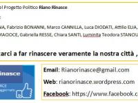"""Il panorama politico Rianese si arricchisce di un nuovo impulso che risponde al nome di """"Riano Rinasce"""""""
