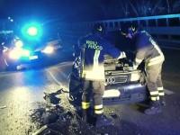 Scontro tra auto e Cotral sulla Salaria: cinque feriti