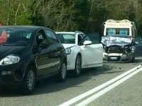 Tamponamento sulla Salaria. Tre le auto coinvolte, feriti lievi