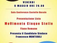 Presentazione lista del Movimento 5 Stelle per il comune di Fiano Romano