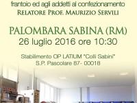 La qualità dell'olio dal frantoio all'imbottigliamento a Palombara Sabina il 26 luglio 2016