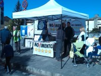 """NO"" al referendum. Al via nel reatino i gazebo del Movimento 5 stelle"