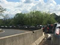 Pasqua, traffico sulla Salaria: lunghe code al semaforo di Passo Corese