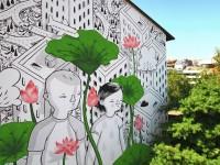 La cooperativa sociale Folias porta la street art di Millo a Il Cantiere di Monterotondo Scalo (RM)
