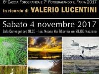 Sabato 4 novembre 2017 esposizione delle fotografie della Caccia Fotografica e Fotografando il Farfa