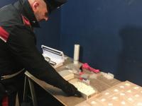 Droga, carabinieri scoprono un laboratorio a Fiano Romano e sequestrano 3,6 chili di cocaina