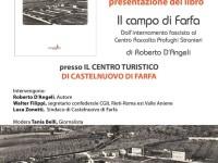 Sabato 24 marzo 2018 a Castelnuovo di Farfa presentazione del libro Il campo di Farfa