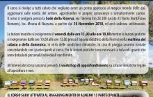 3ª Edizione del corso di Apicoltura Teorico – Tecnico – Pratico dal 16 novembre 2018 a Nazzano (Roma)