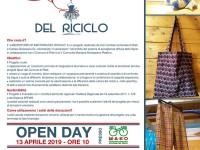 Inaugurazione del laboratorio di sartoria del riciclo sabato 13 aprile 2019 ore 10 presso il Ma.ko di Rieti