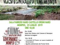 Verso il contratto del fiume Farfa. Confronto a Mompeo domenica 23 luglio 2019 alle 18.00