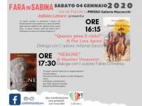 """Fara in Sabina si avvia a diventare la """"città del libro"""". Il 4 gennaio 2020 due presentazioni"""