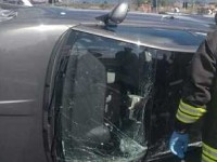Rieti, auto si ribalta sulla bretella da Fiano a Passo Corese