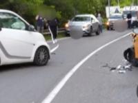 Passo Corese, frontale tra due auto: due feriti, uno in codice rosso