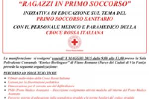 """Fiano Romano . """"Ragazzi in primo soccorso"""" l'8 maggio 2015"""